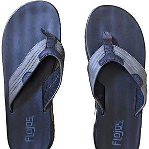 NWT Flojos Men's Grey and Black Flip Flop